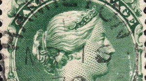 canada-two-cent-large-queen-on-laid-paper-detail
