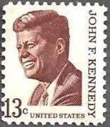 US 13 cent John F Kennedy stamp (Prominent American Series)