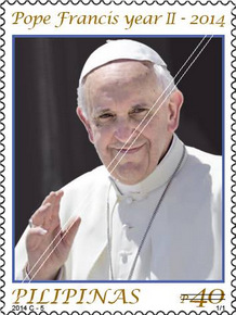 Philippines 2014 Pope Francis commemorative stamp