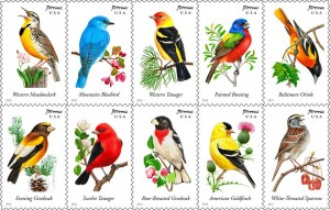 US Songbirds stamps