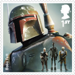 UK Boba Fett StarWars postage stamp