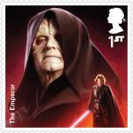 UK Emperor Palpatine StarWars postage stamp