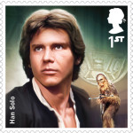 UK Han Solo StarWars postage stamp