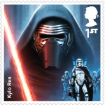 UK Kylo Ren StarWars postage stamp