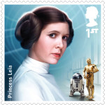 UK Princess Leia StarWars postage stamp