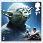 UK Yoda StarWars postage stamp